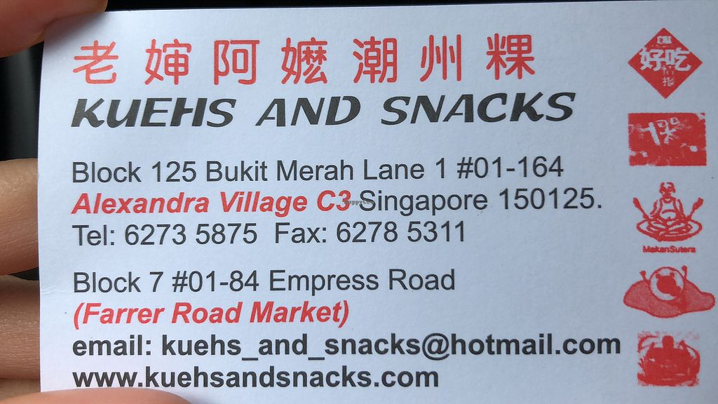 """Photo of Kueh and Snacks  by <a href=""""/members/profile/AmyLeySzeThoo"""">AmyLeySzeThoo</a> <br/>Name card  <br/> April 7, 2018  - <a href='/contact/abuse/image/116945/381805'>Report</a>"""