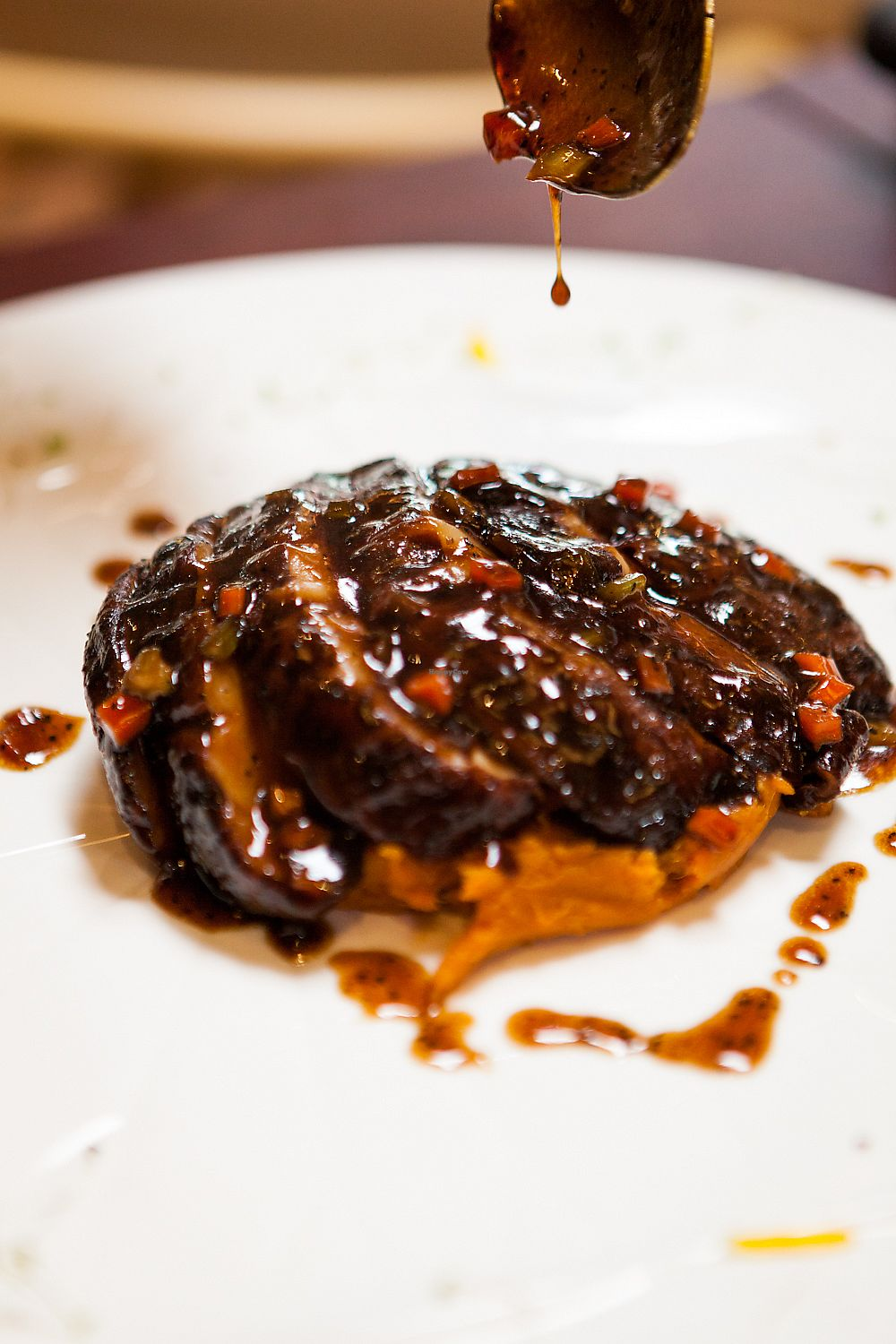 "Photo of Ooak Kitchen  by <a href=""/members/profile/ooakkitchen"">ooakkitchen</a> <br/>Steak Mushroom on Fire: pan fried premium shiitake mushroom, sweet potato mash, black pepper sauce <br/> April 13, 2018  - <a href='/contact/abuse/image/117003/385255'>Report</a>"
