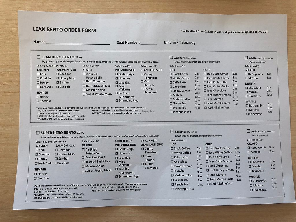 """Photo of Lean Bento  by <a href=""""/members/profile/matostars"""">matostars</a> <br/>Choose your bento options and tick on this sheet for ordering <br/> April 12, 2018  - <a href='/contact/abuse/image/117047/384618'>Report</a>"""
