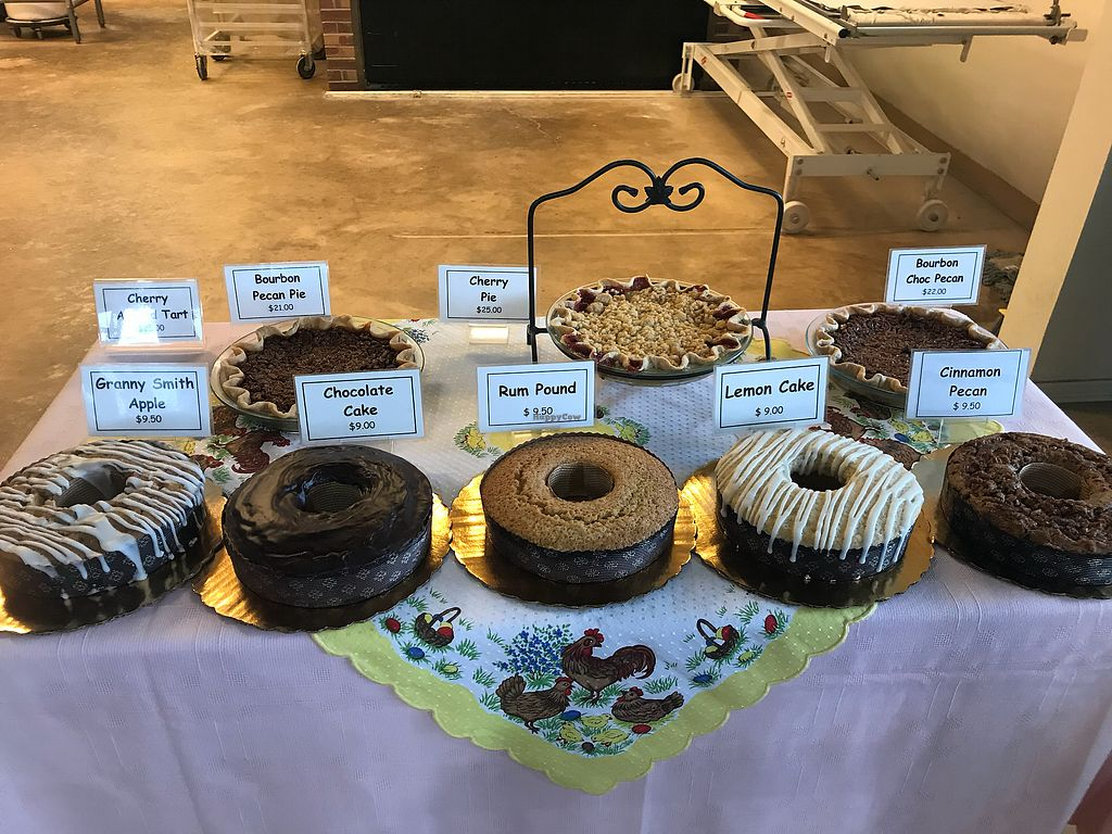 """Photo of BreadHaus  by <a href=""""/members/profile/Tata"""">Tata</a> <br/>All of the cakes except for the pies and the Rum Pound are Vegan. Nice size and reasonably priced! <br/> April 12, 2018  - <a href='/contact/abuse/image/117055/384355'>Report</a>"""
