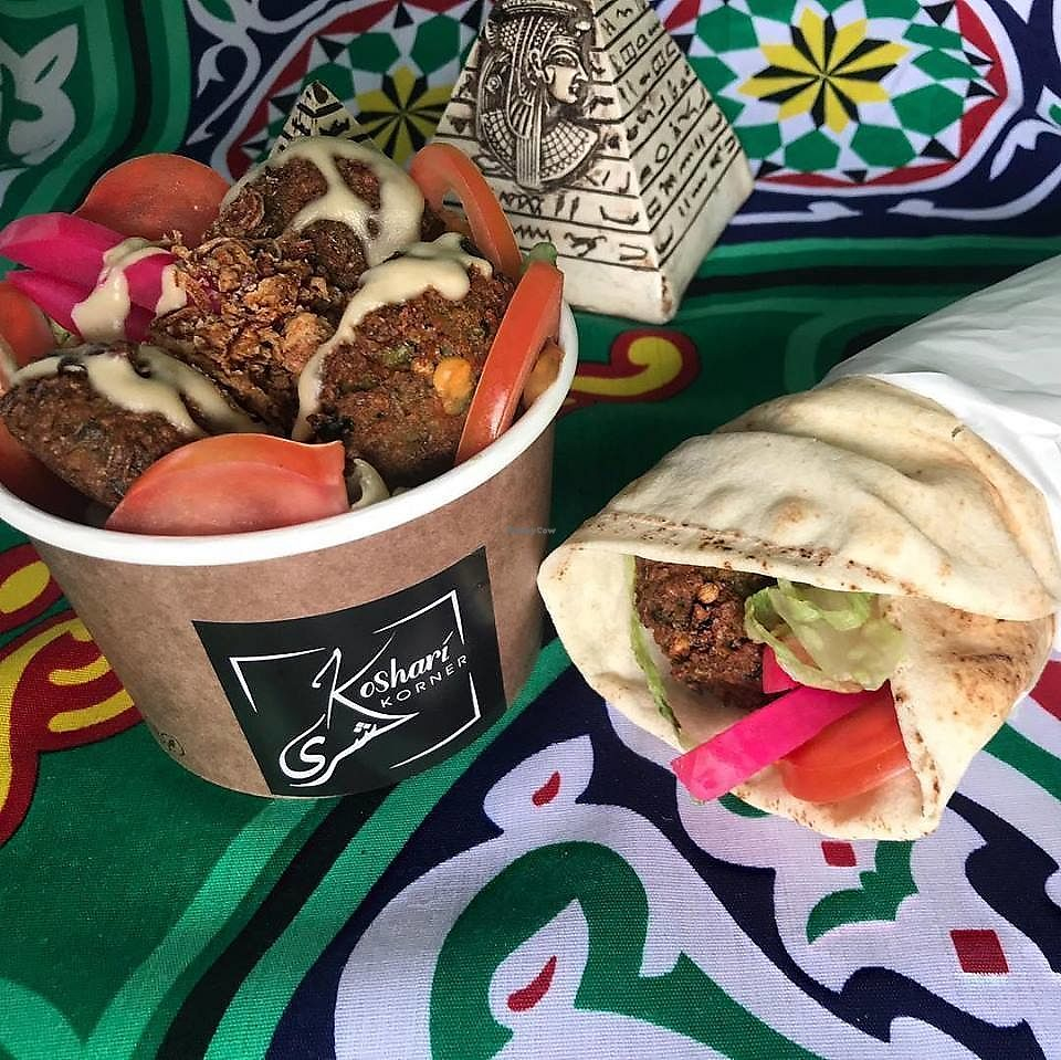 """Photo of Koshari Korner  by <a href=""""/members/profile/verbosity"""">verbosity</a> <br/>Falafel <br/> April 7, 2018  - <a href='/contact/abuse/image/117089/382129'>Report</a>"""