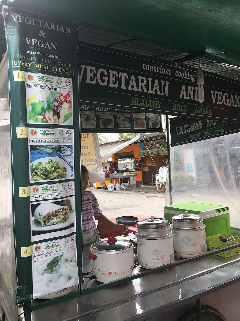 "Photo of Vegan Food Stall  by <a href=""/members/profile/vagabonding2018"">vagabonding2018</a> <br/>Food Stall from Front <br/> April 17, 2018  - <a href='/contact/abuse/image/117115/387084'>Report</a>"
