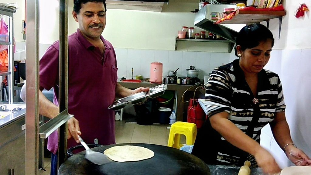 """Photo of Raja Punjabi - Food Stall  by <a href=""""/members/profile/ChoyYuen"""">ChoyYuen</a> <br/>Raj and his assistant at their chapati making counter <br/> April 11, 2018  - <a href='/contact/abuse/image/117118/383797'>Report</a>"""