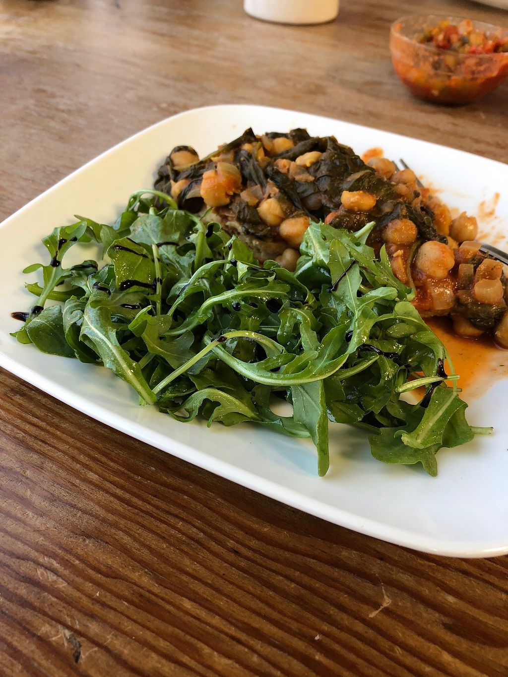 """Photo of Ammo Brewing  by <a href=""""/members/profile/EmmaBelz"""">EmmaBelz</a> <br/>Brunch Chickpea Curry w/ dressed greens <br/> April 10, 2018  - <a href='/contact/abuse/image/117171/383511'>Report</a>"""