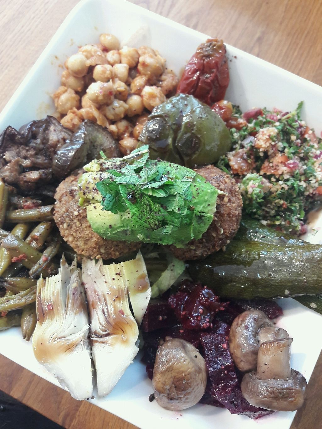 "Photo of Levant - Kallio  by <a href=""/members/profile/reissausta%20ja%20ruokaa"">reissausta ja ruokaa</a> <br/>Salad with falafel and avocado <br/> April 11, 2018  - <a href='/contact/abuse/image/117177/383995'>Report</a>"