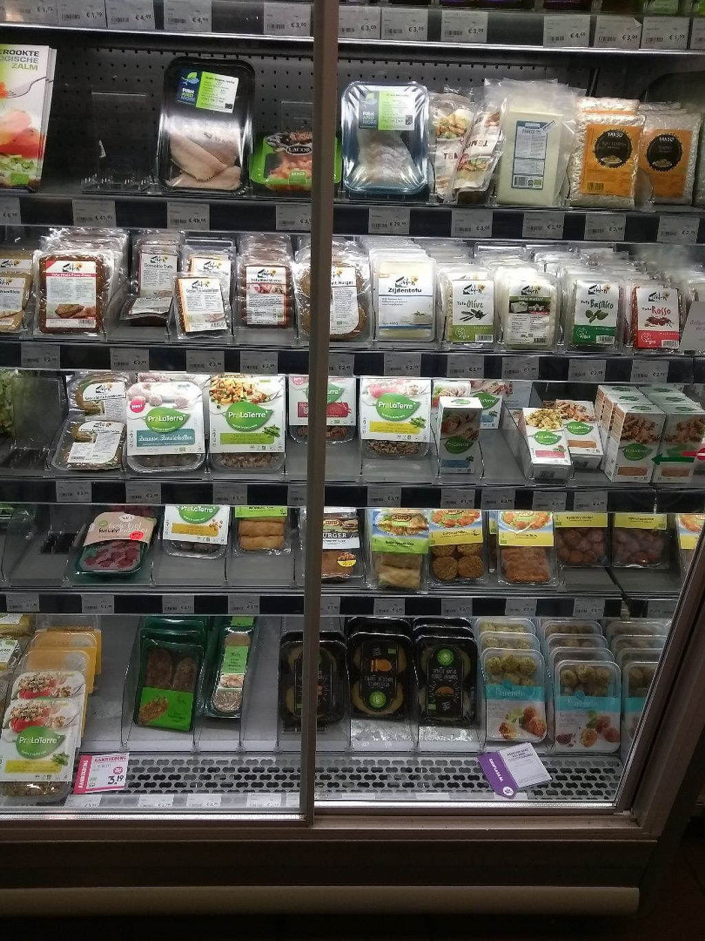 """Photo of EkoPlaza  by <a href=""""/members/profile/thenaturalfusions"""">thenaturalfusions</a> <br/>tofu and seitan fridge  <br/> May 18, 2017  - <a href='/contact/abuse/image/11718/259784'>Report</a>"""