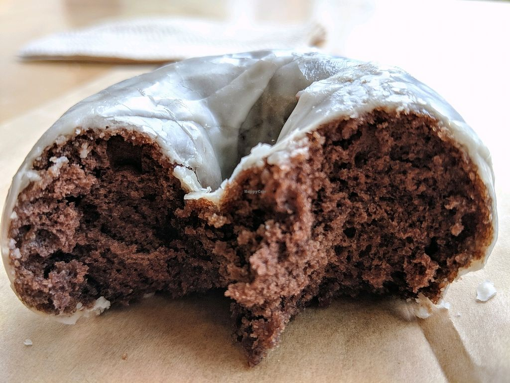 "Photo of Mighty-O Donuts - Denny Triangle  by <a href=""/members/profile/The%20Hungry%20Vegan"">The Hungry Vegan</a> <br/>glazed chocolate <br/> April 14, 2018  - <a href='/contact/abuse/image/117204/385736'>Report</a>"