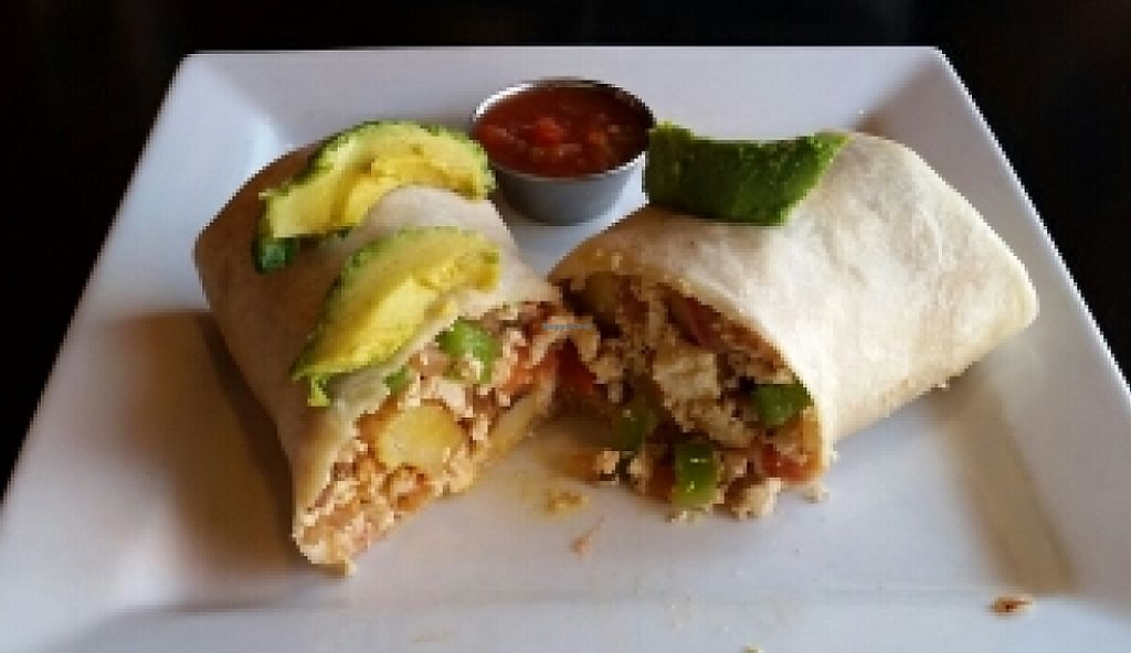 Photo of Down to Earth Cafe  by J3551684 <br/>vegan breakfast burrito <br/> July 2, 2016  - <a href='/contact/abuse/image/11720/221702'>Report</a>