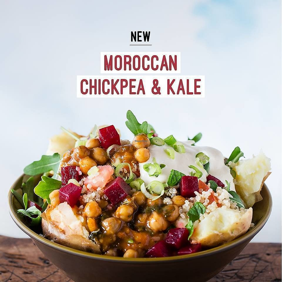 """Photo of SpudBar - Collins  by <a href=""""/members/profile/verbosity"""">verbosity</a> <br/>Moroccan chickpea & kale  <br/> April 10, 2018  - <a href='/contact/abuse/image/117240/383515'>Report</a>"""