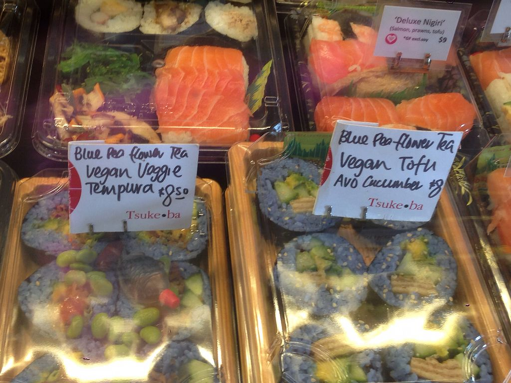 "Photo of Tsuke-Ba  by <a href=""/members/profile/UrVeggieMate"">UrVeggieMate</a> <br/>Blue rice sushi <br/> April 10, 2018  - <a href='/contact/abuse/image/117243/383563'>Report</a>"