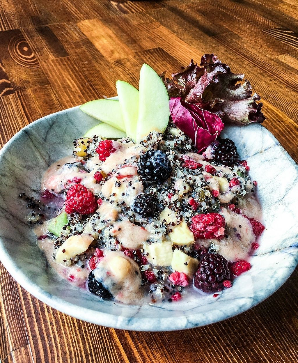 """Photo of The Juice Lounge  by <a href=""""/members/profile/Thejuicelounge"""">Thejuicelounge</a> <br/>Fruity quinoa salad - quinoa, varieties of fruits and berries.  <br/> April 14, 2018  - <a href='/contact/abuse/image/117252/385666'>Report</a>"""