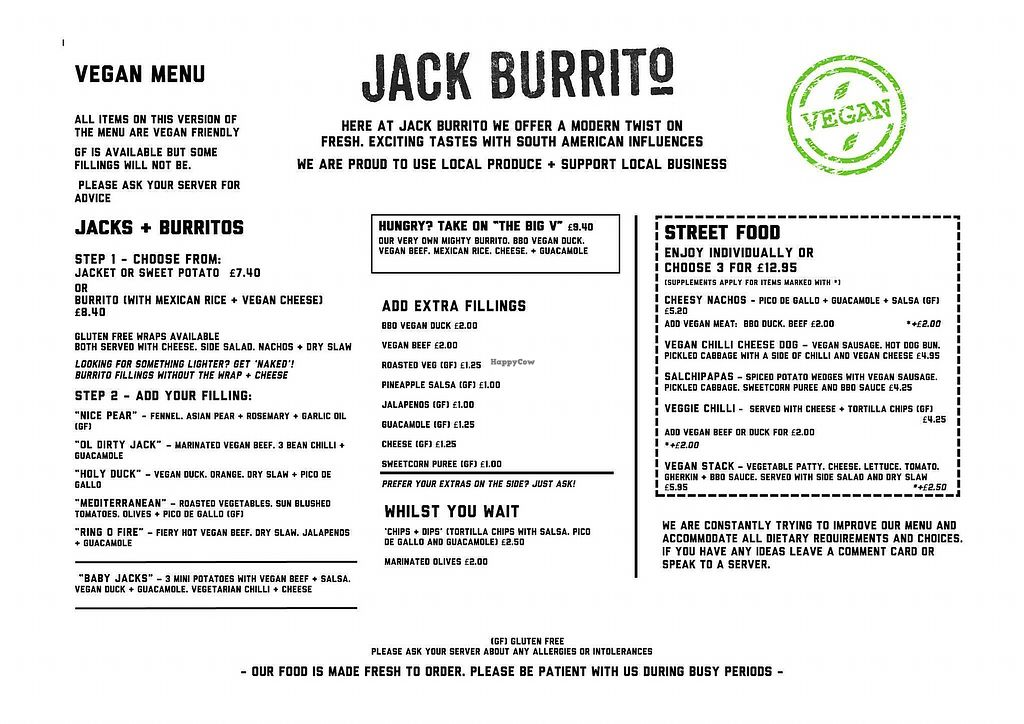 """Photo of Jack Burrito  by <a href=""""/members/profile/Ginger_Green"""">Ginger_Green</a> <br/>Jack Burrito vegan menu <br/> April 11, 2018  - <a href='/contact/abuse/image/117269/383722'>Report</a>"""