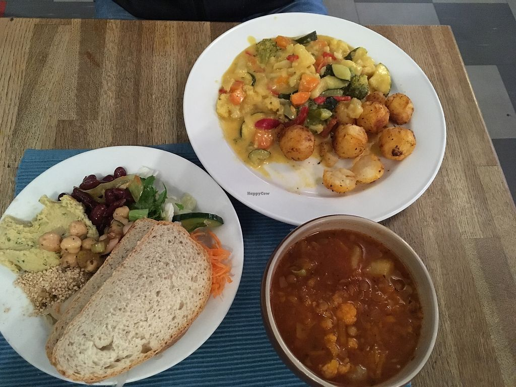 """Photo of Restaurang Solrosen  by <a href=""""/members/profile/SuzyJones"""">SuzyJones</a> <br/>vegetable coconut stew, lentil soup, buffet salad <br/> September 2, 2017  - <a href='/contact/abuse/image/1172/300038'>Report</a>"""