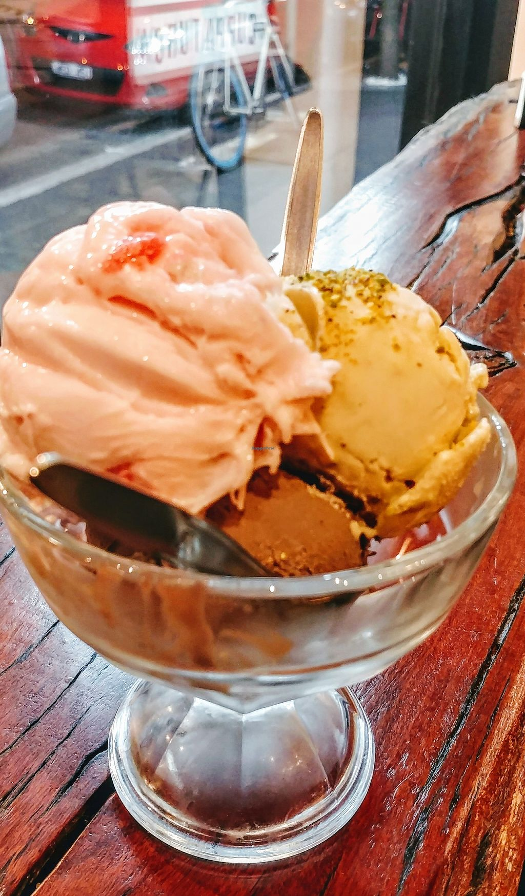 """Photo of Cuppa Turca  by <a href=""""/members/profile/karlaess"""">karlaess</a> <br/>Turkish delight, pistachio and black tahini flavoured icecreams <br/> April 10, 2018  - <a href='/contact/abuse/image/117302/383241'>Report</a>"""