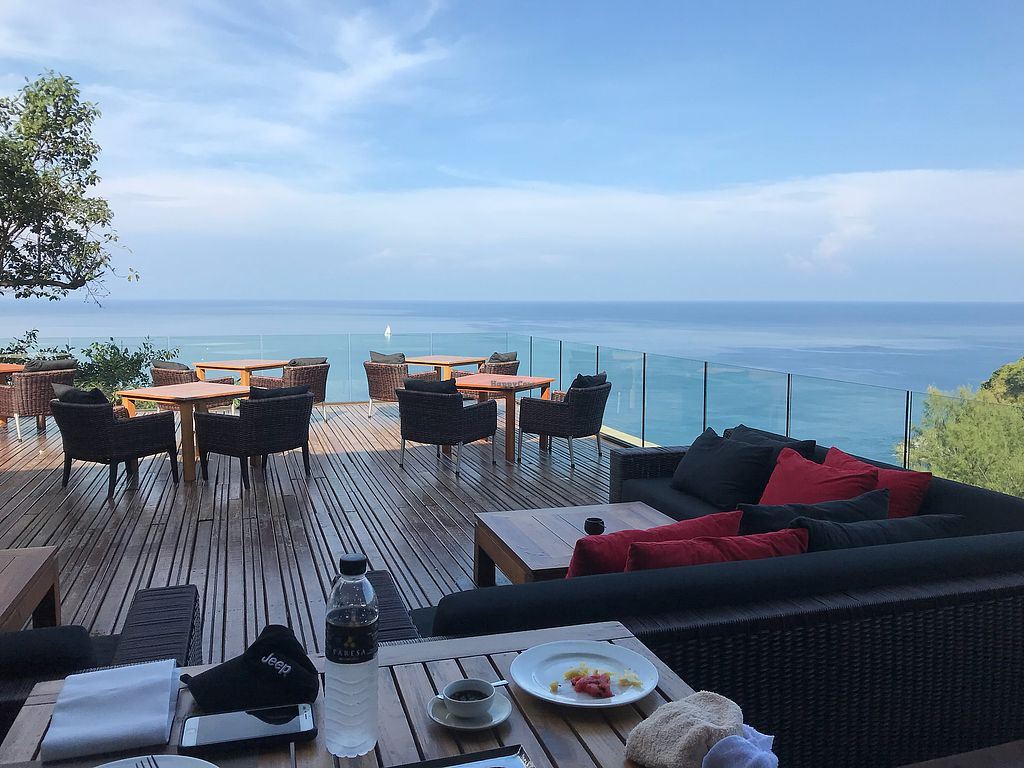 """Photo of Paresa Resort  by <a href=""""/members/profile/Perth%20Geoff"""">Perth Geoff</a> <br/>Restaurant view <br/> April 12, 2018  - <a href='/contact/abuse/image/117319/384225'>Report</a>"""
