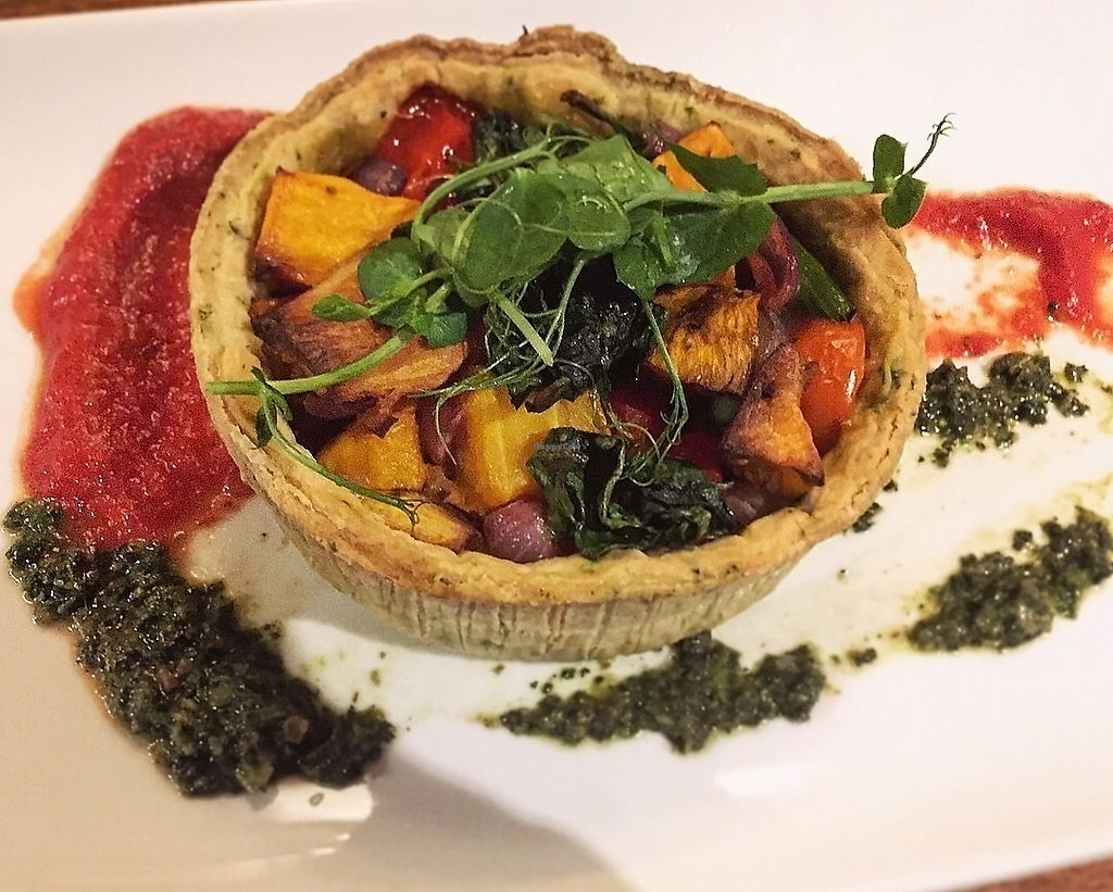 """Photo of The Green Man  by <a href=""""/members/profile/123emily"""">123emily</a> <br/>Roasted butternut squash & sweet potato tart <br/> April 15, 2018  - <a href='/contact/abuse/image/117338/386242'>Report</a>"""