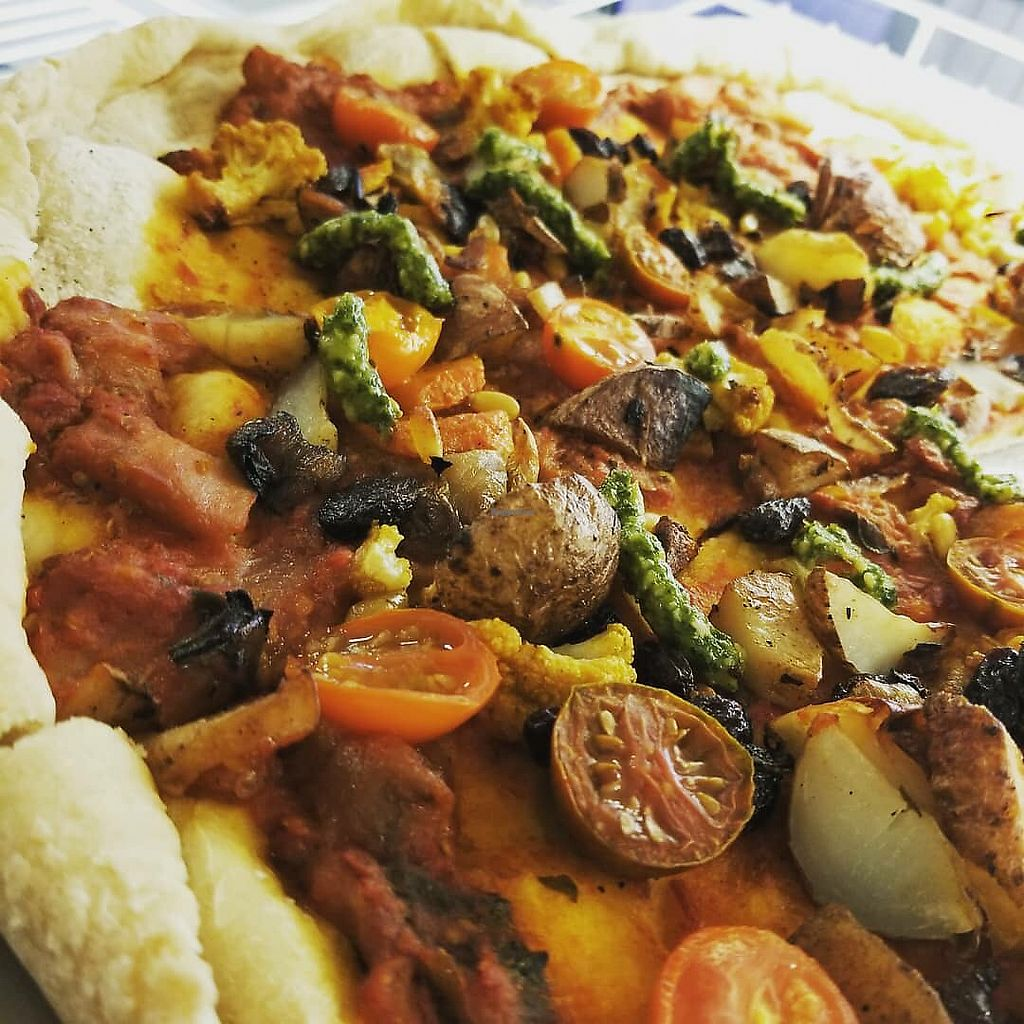 """Photo of Moonlight Cafe  by <a href=""""/members/profile/pictureframes"""">pictureframes</a> <br/>vegan veggie pizza <br/> April 19, 2018  - <a href='/contact/abuse/image/117457/387874'>Report</a>"""