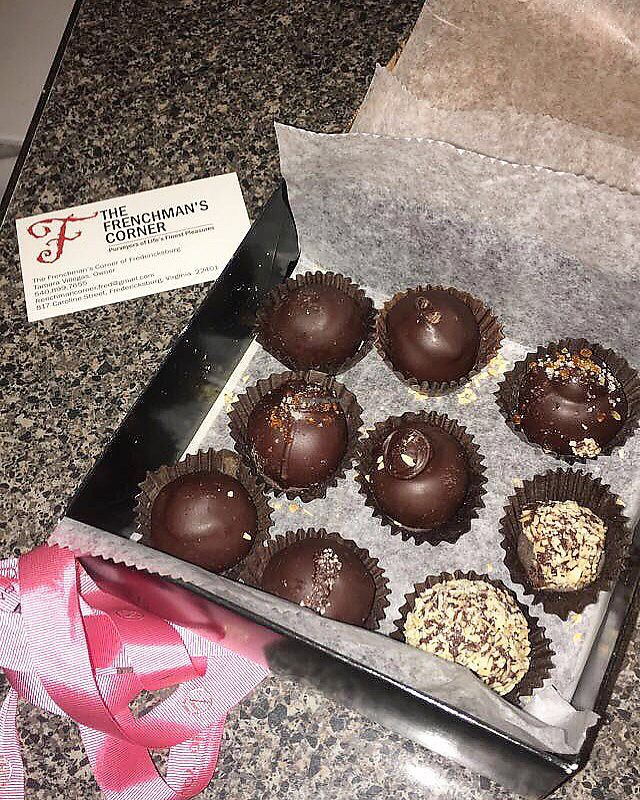 """Photo of The Frenchman's Corner  by <a href=""""/members/profile/katie.kattt"""">katie.kattt</a> <br/>Vegan chocolate truffles  <br/> April 12, 2018  - <a href='/contact/abuse/image/117500/384706'>Report</a>"""