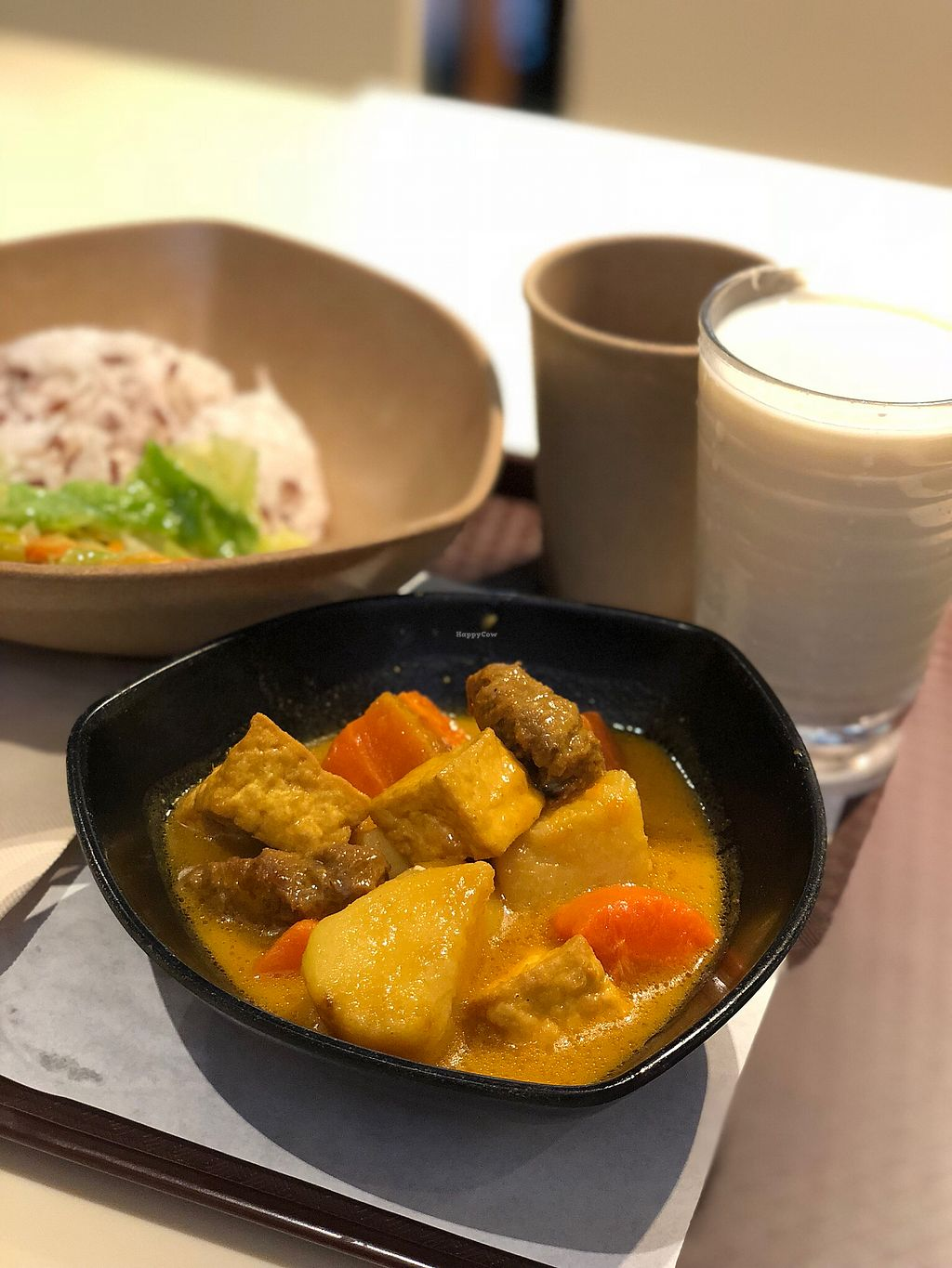 """Photo of Loving Hut - Amoy Plaza  by <a href=""""/members/profile/veggiefoodie"""">veggiefoodie</a> <br/>Potato Curry with Rice <br/> January 4, 2018  - <a href='/contact/abuse/image/11753/342862'>Report</a>"""