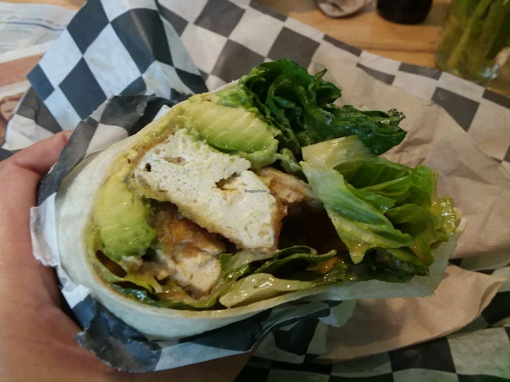 """Photo of Eliot St Fish & Chips  by <a href=""""/members/profile/Tellitlikeitis"""">Tellitlikeitis</a> <br/>Peanut Tofu Wrap <br/> April 14, 2018  - <a href='/contact/abuse/image/117563/385831'>Report</a>"""