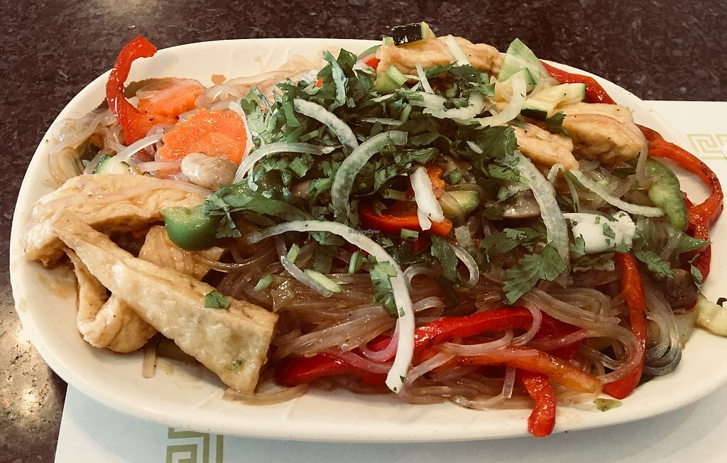 """Photo of Chopstix Vietnamese Restaurant  by <a href=""""/members/profile/Clean%26Green"""">Clean&Green</a> <br/>Vegetarian glass noodles with tofu & veggies <br/> April 12, 2018  - <a href='/contact/abuse/image/117569/384716'>Report</a>"""