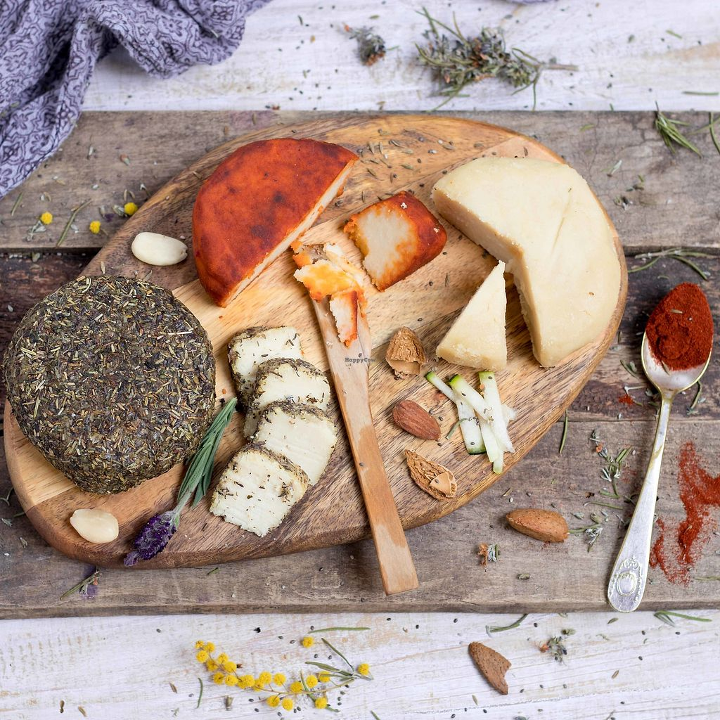 """Photo of Vegan Fromagerie  by <a href=""""/members/profile/annaescalada"""">annaescalada</a> <br/>Vegan cheeseboard  with almond cheeses by Vegan Fromagerie <br/> April 14, 2018  - <a href='/contact/abuse/image/117577/385830'>Report</a>"""