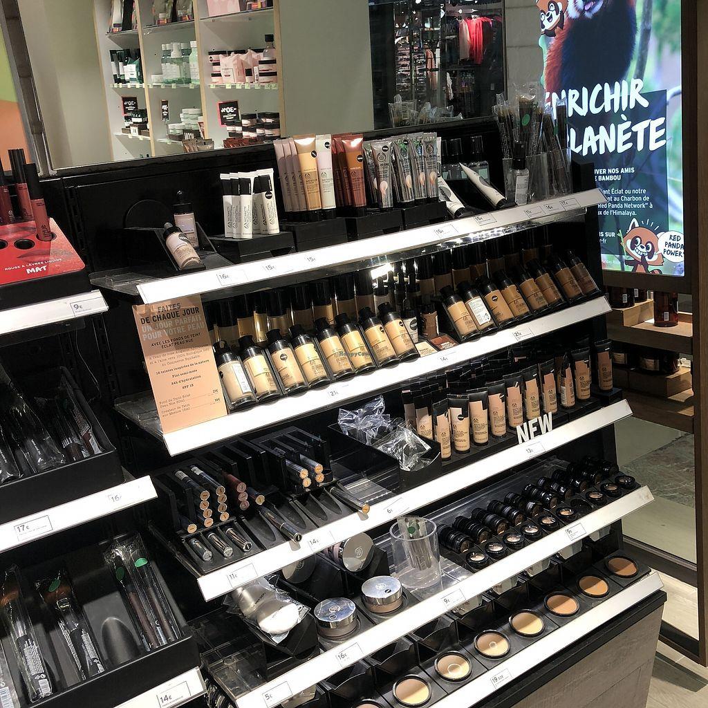 "Photo of The Body Shop - Provence  by <a href=""/members/profile/TARAMCDONALD"">TARAMCDONALD</a> <br/>Vegan & vegetarian makeup <br/> April 12, 2018  - <a href='/contact/abuse/image/117587/384751'>Report</a>"