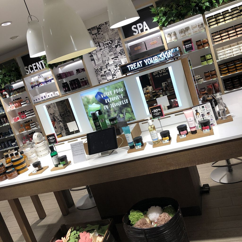 """Photo of The Body Shop - Provence  by <a href=""""/members/profile/TARAMCDONALD"""">TARAMCDONALD</a> <br/>Vegan options at the body shop <br/> April 12, 2018  - <a href='/contact/abuse/image/117587/384757'>Report</a>"""