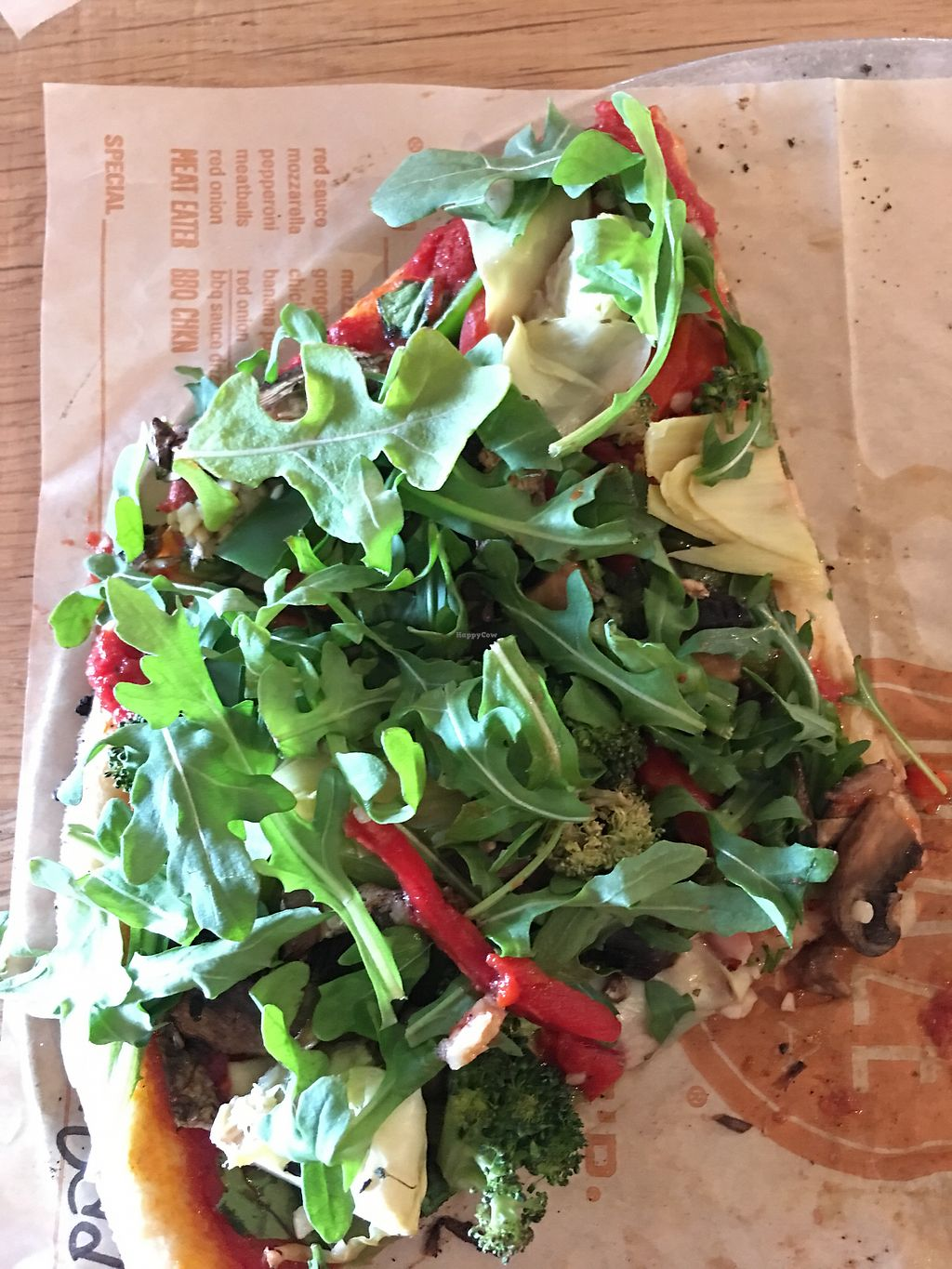 "Photo of Blaze Pizza - Washtenaw Ave  by <a href=""/members/profile/WFPBatarian"">WFPBatarian</a> <br/>Vegan veggie delight with fresh arugula <br/> April 13, 2018  - <a href='/contact/abuse/image/117590/384858'>Report</a>"