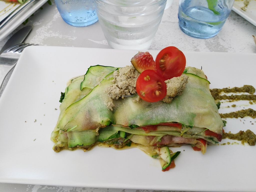 """Photo of CLOSED: Out of Time People  by <a href=""""/members/profile/Meibluemoon"""">Meibluemoon</a> <br/>Vegan lasagna with vegan cheese Small piece, 13 euros aprox The vegan cheese was good :) <br/> October 3, 2015  - <a href='/contact/abuse/image/11759/119985'>Report</a>"""