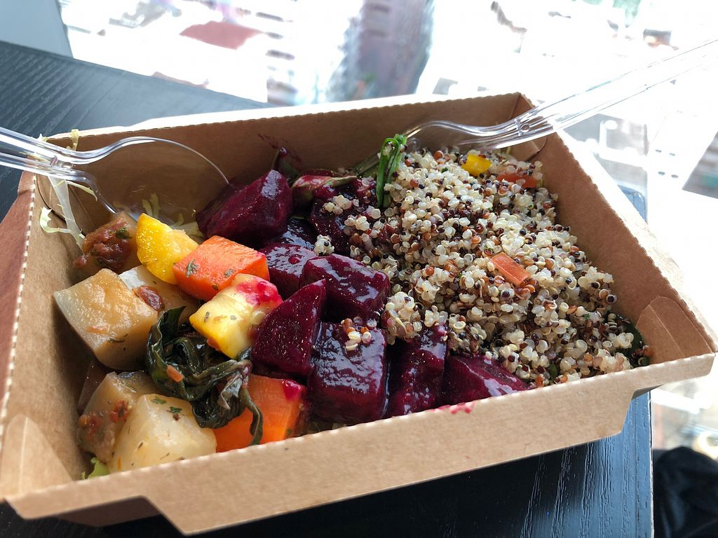 """Photo of Ever Green  by <a href=""""/members/profile/SamanthaIngridHo"""">SamanthaIngridHo</a> <br/>Mixed veggie, Beetroot and quinoa salad <br/> April 20, 2018  - <a href='/contact/abuse/image/117632/388644'>Report</a>"""