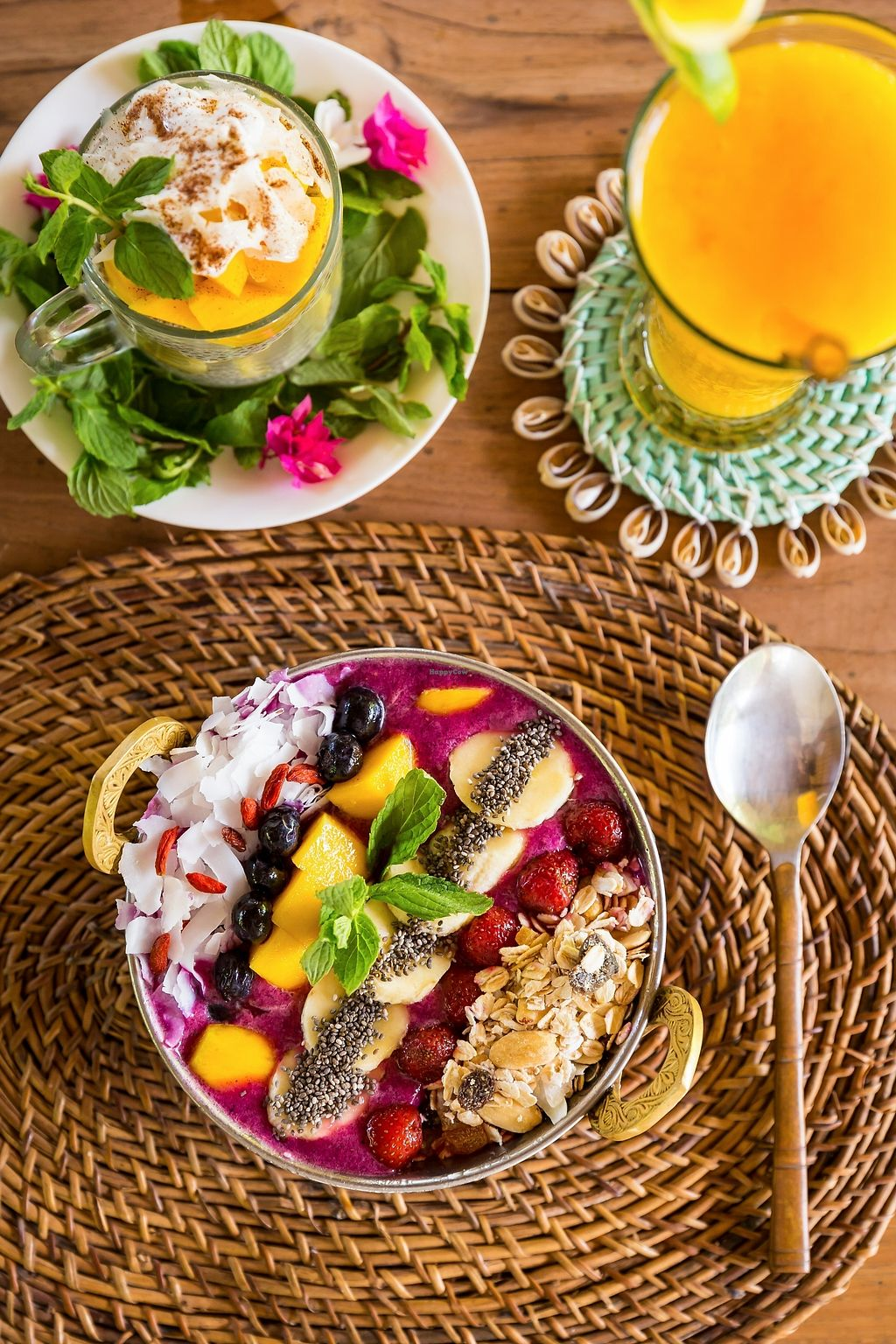 """Photo of Tigerlillys  by <a href=""""/members/profile/sun_sea_and_sand"""">sun_sea_and_sand</a> <br/>Delicious Acai bowl (vegan), chia pudding (vegetarian, and vegan opt out of honey drizzle)   <br/> April 16, 2018  - <a href='/contact/abuse/image/117642/386638'>Report</a>"""