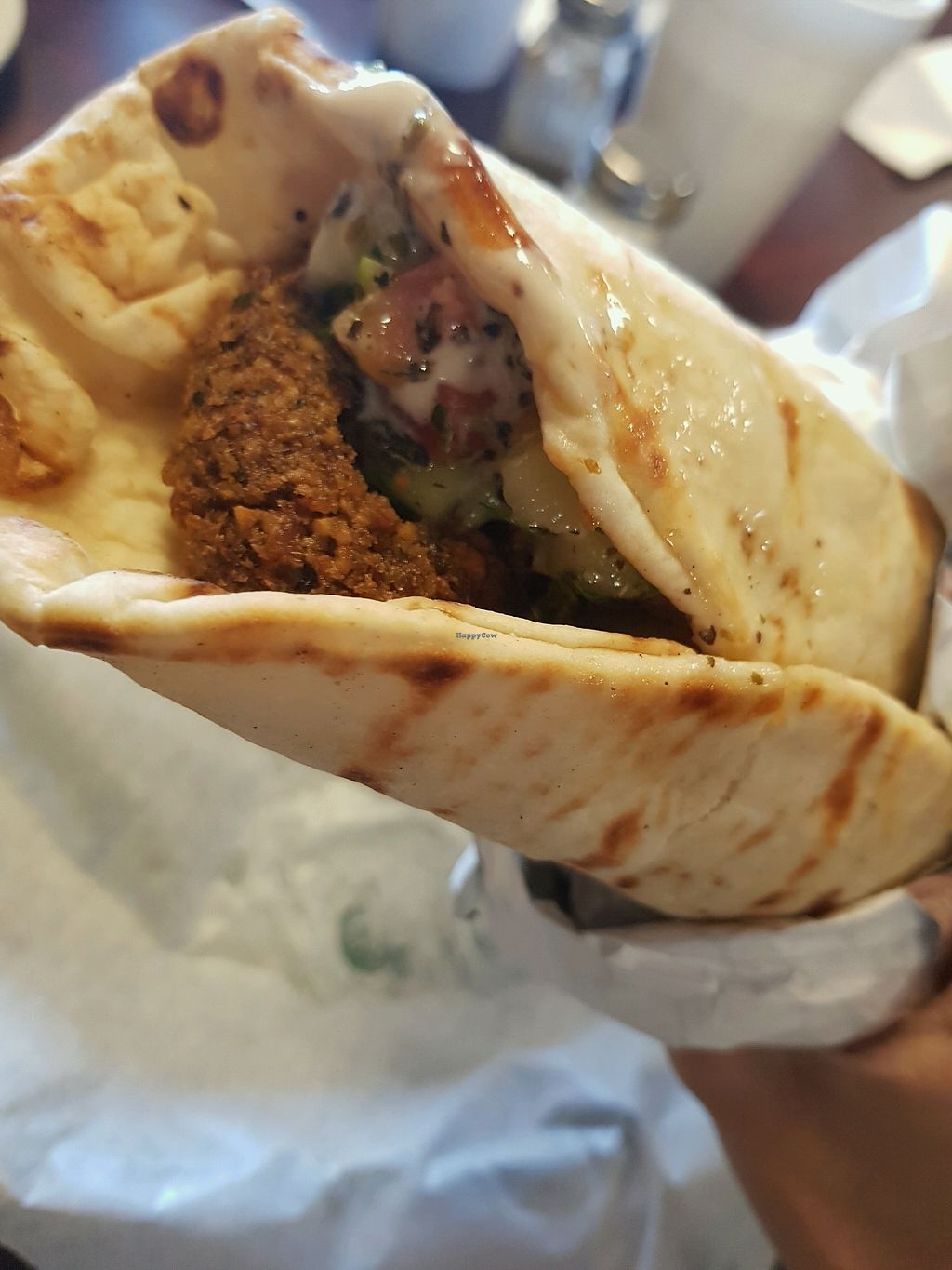 """Photo of King O Falafel  by <a href=""""/members/profile/Cynthiab"""">Cynthiab</a> <br/>falafel pita ask without sauce <br/> April 13, 2018  - <a href='/contact/abuse/image/117643/385344'>Report</a>"""