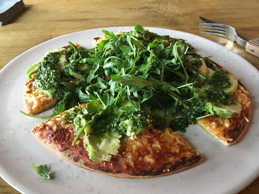 "Photo of Pure Deli  by <a href=""/members/profile/agirmar"">agirmar</a> <br/>Vegan Avocado Pizza <br/> April 19, 2018  - <a href='/contact/abuse/image/117647/388233'>Report</a>"