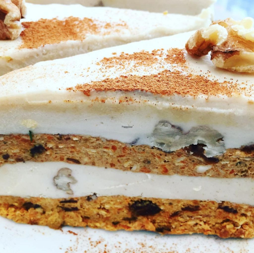 """Photo of Pure Wholefoods  by <a href=""""/members/profile/purewalter"""">purewalter</a> <br/>raw vegan carrot cake  <br/> February 14, 2017  - <a href='/contact/abuse/image/11764/226566'>Report</a>"""