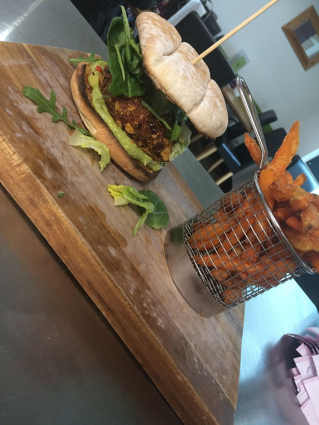 """Photo of The Green Rooms  by <a href=""""/members/profile/Aimeebrooks9"""">Aimeebrooks9</a> <br/>Sweet potato and red bean burger <br/> April 13, 2018  - <a href='/contact/abuse/image/117658/385351'>Report</a>"""
