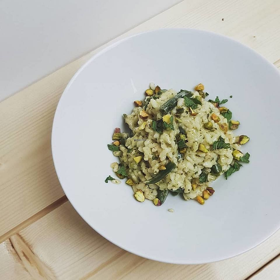 """Photo of May  by <a href=""""/members/profile/eskapeartiste"""">eskapeartiste</a> <br/>Coconut Risotto with Lobio, Pistachio and Lime <br/> April 17, 2018  - <a href='/contact/abuse/image/117726/387099'>Report</a>"""