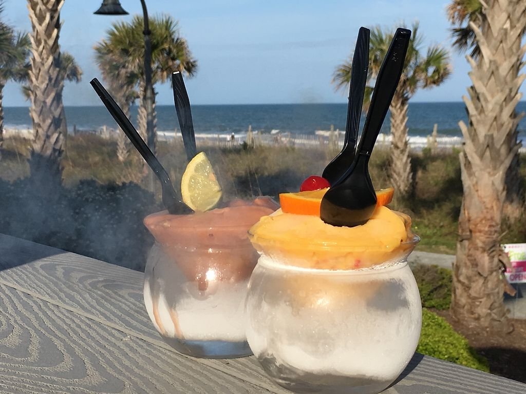 """Photo of Art Burger Sushi Bar  by <a href=""""/members/profile/AnnFromIllinois"""">AnnFromIllinois</a> <br/>Nitrogen cocktails basically turn a drink into sorbet.  <br/> April 15, 2018  - <a href='/contact/abuse/image/117742/385959'>Report</a>"""