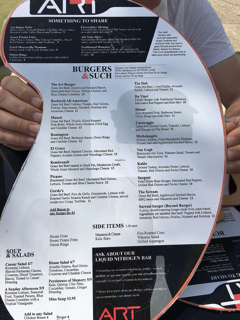 """Photo of Art Burger Sushi Bar  by <a href=""""/members/profile/AnnFromIllinois"""">AnnFromIllinois</a> <br/>The menu <br/> April 15, 2018  - <a href='/contact/abuse/image/117742/386437'>Report</a>"""