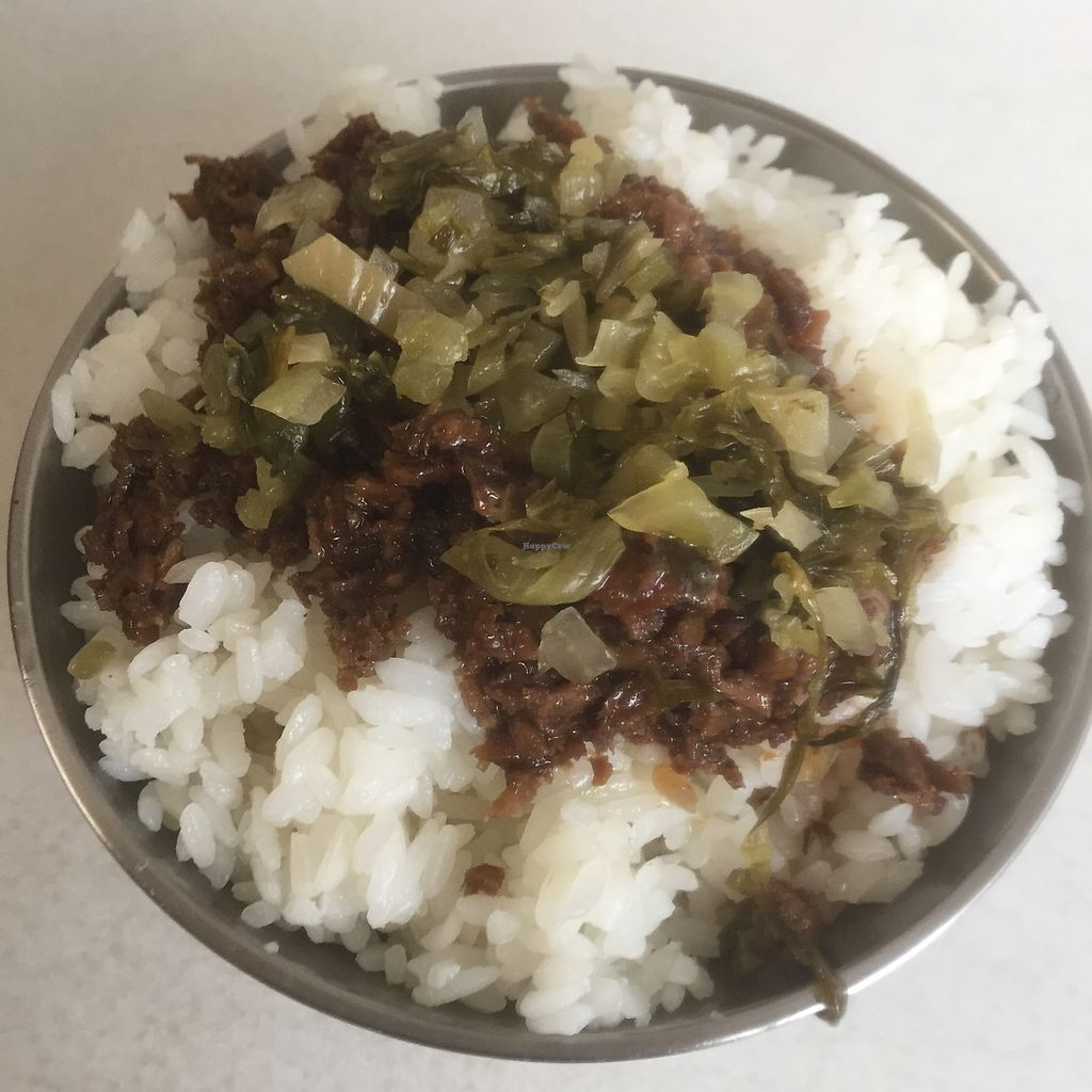 """Photo of ShuangLian Vegetarian Snacks  by <a href=""""/members/profile/Pons"""">Pons</a> <br/>Vegetarian braised pork rice (素燥飯)  <br/> April 17, 2018  - <a href='/contact/abuse/image/117776/387015'>Report</a>"""