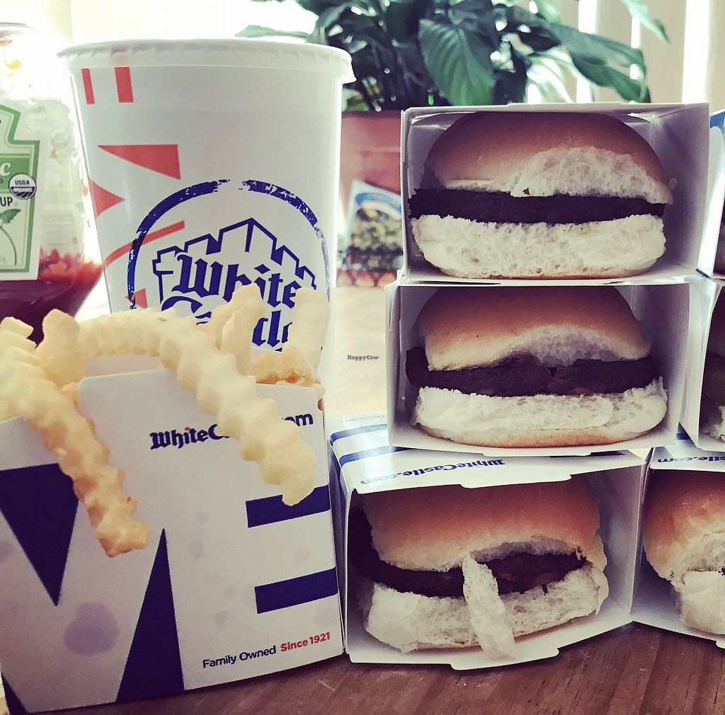"""Photo of White Castle  by <a href=""""/members/profile/KarenTatur"""">KarenTatur</a> <br/>Veggie and Black Bean Sliders <br/> April 18, 2018  - <a href='/contact/abuse/image/117925/387441'>Report</a>"""