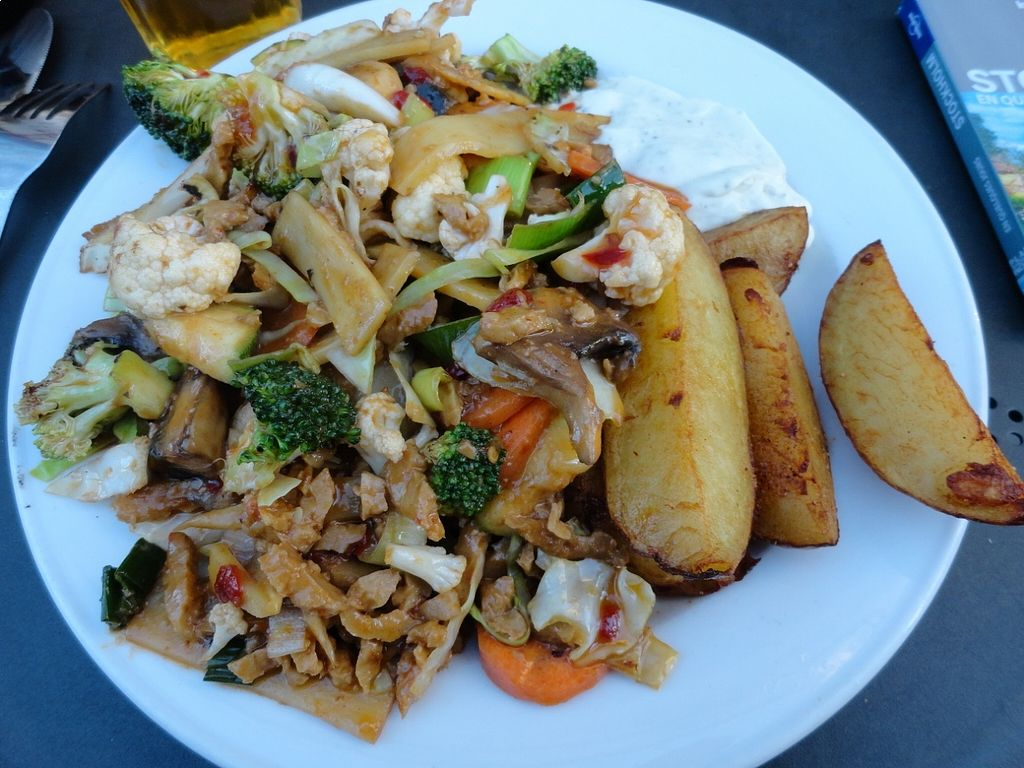 "Photo of Sodermanna Vegetariska  by <a href=""/members/profile/JonJon"">JonJon</a> <br/>Fried vegetables with 'beef' and potatoes <br/> August 24, 2015  - <a href='/contact/abuse/image/1184/114957'>Report</a>"
