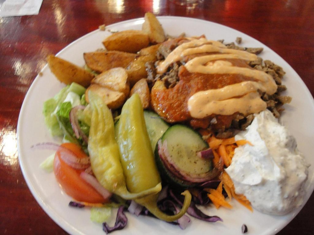 "Photo of Sodermanna Vegetariska  by <a href=""/members/profile/%2B%2B%2BVeGaNiSaToR%2B%2B%2B"">+++VeGaNiSaToR+++</a> <br/>Kebab plate (you have also in bread) <br/> September 10, 2014  - <a href='/contact/abuse/image/1184/79483'>Report</a>"