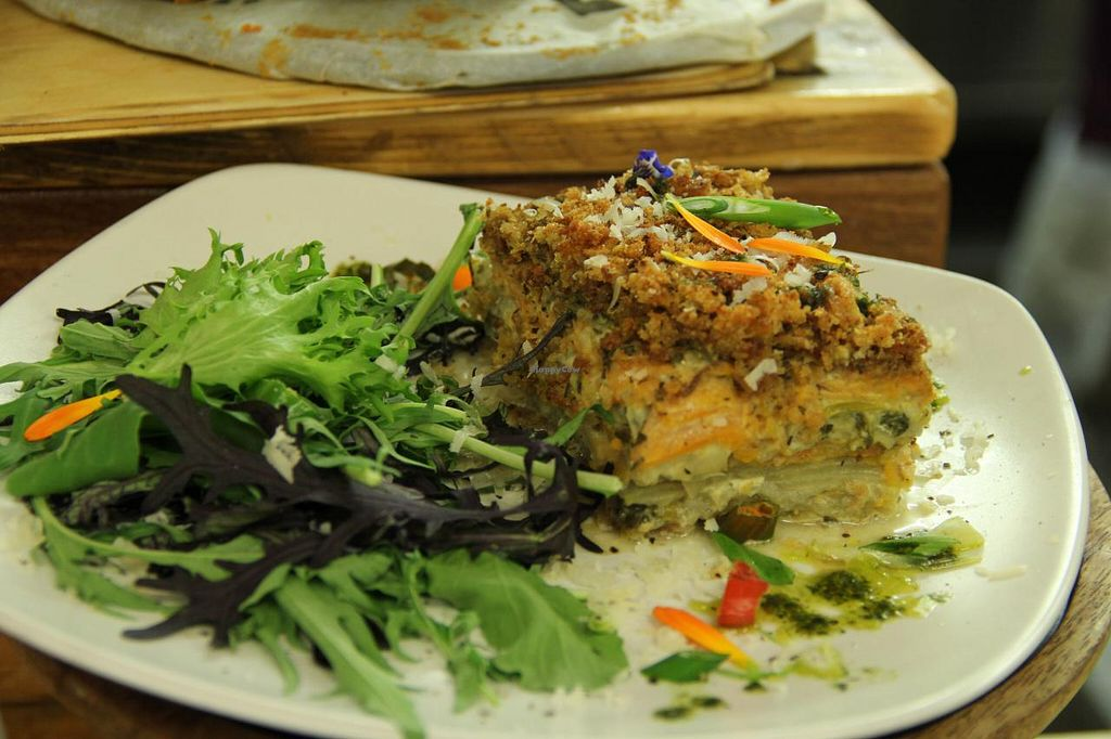 """Photo of Dublin Food Co-op  by <a href=""""/members/profile/DublinFoodCoop"""">DublinFoodCoop</a> <br/>Sweet potato gratin by The Co-op Café <br/> May 6, 2015  - <a href='/contact/abuse/image/11941/101463'>Report</a>"""