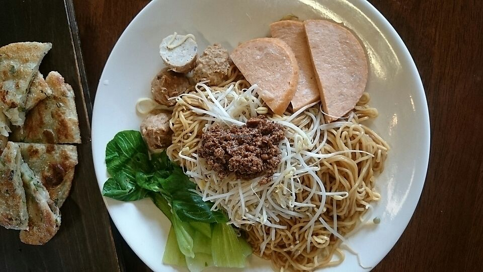 """Photo of Water Drop Vegetarian Cafe  by <a href=""""/members/profile/LisaS."""">LisaS.</a> <br/>fried noodles with three kinds of fake meat  <br/> September 3, 2017  - <a href='/contact/abuse/image/11971/300291'>Report</a>"""