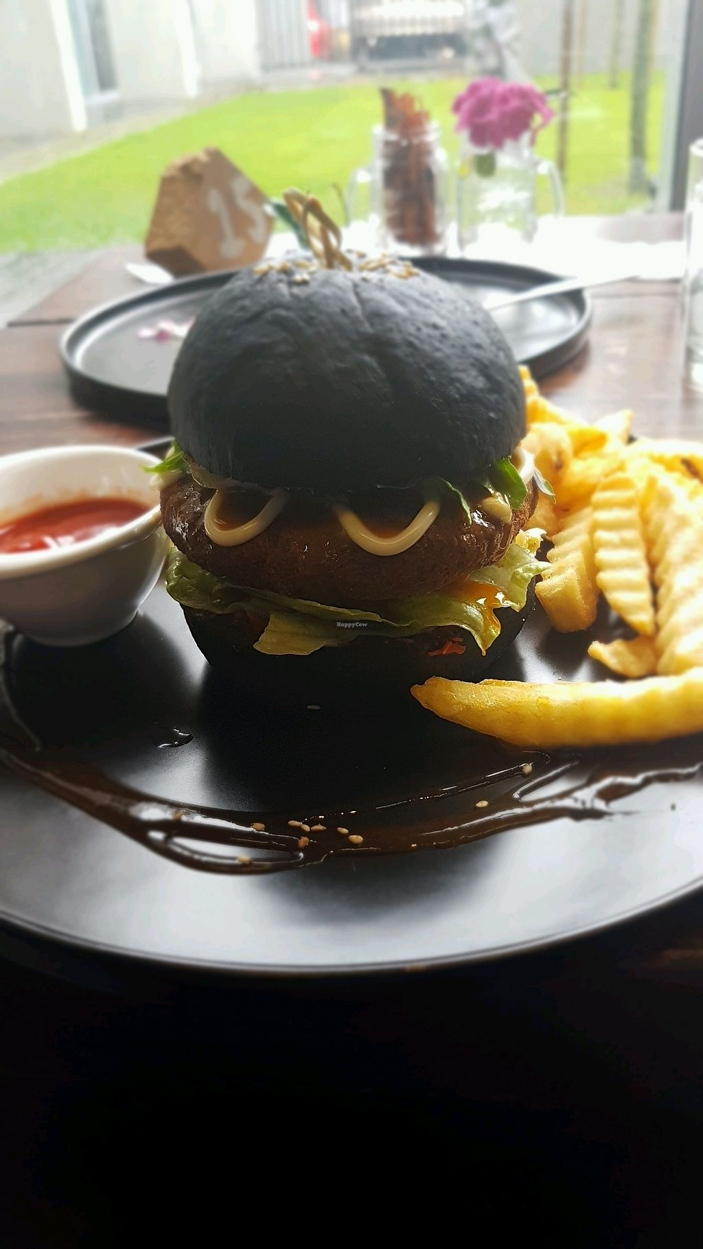 """Photo of Water Drop Vegetarian Cafe  by <a href=""""/members/profile/JuanRuas"""">JuanRuas</a> <br/>Chickpea burger  <br/> January 5, 2018  - <a href='/contact/abuse/image/11971/343391'>Report</a>"""