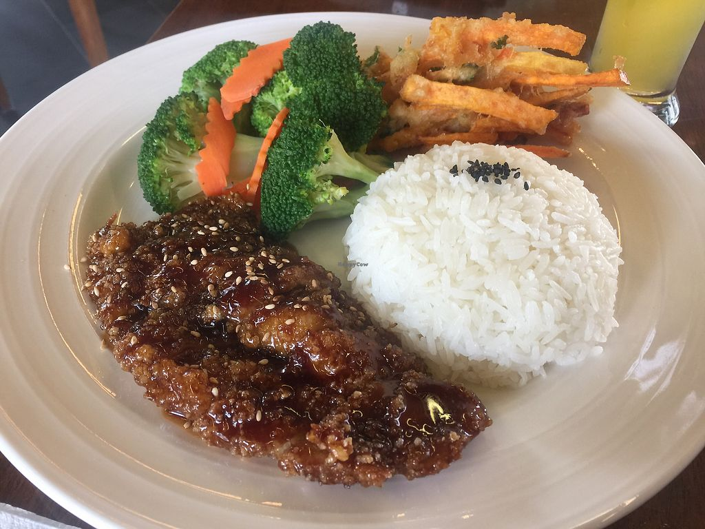"""Photo of Water Drop Vegetarian Cafe  by <a href=""""/members/profile/Tiggy"""">Tiggy</a> <br/>Teriyaki pork meal <br/> January 31, 2018  - <a href='/contact/abuse/image/11971/353148'>Report</a>"""