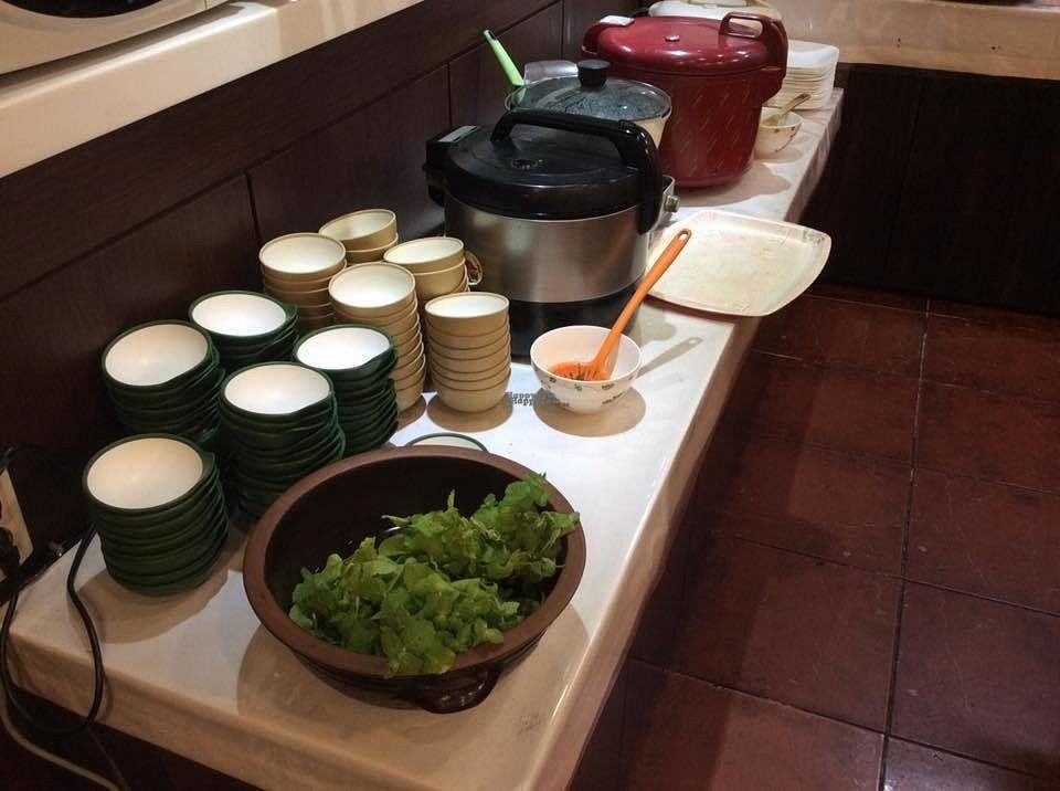 """Photo of Han Gwa Chae - 한과채  by <a href=""""/members/profile/littleasura"""">littleasura</a> <br/>The stew and rice section. The rice cookers contain either sticky rice and beans, the black sesame rice porridge, or the spicy stew. Tried getting the leafy green when it turns out it's not part of the buffet... XD <br/> September 12, 2016  - <a href='/contact/abuse/image/11982/175239'>Report</a>"""