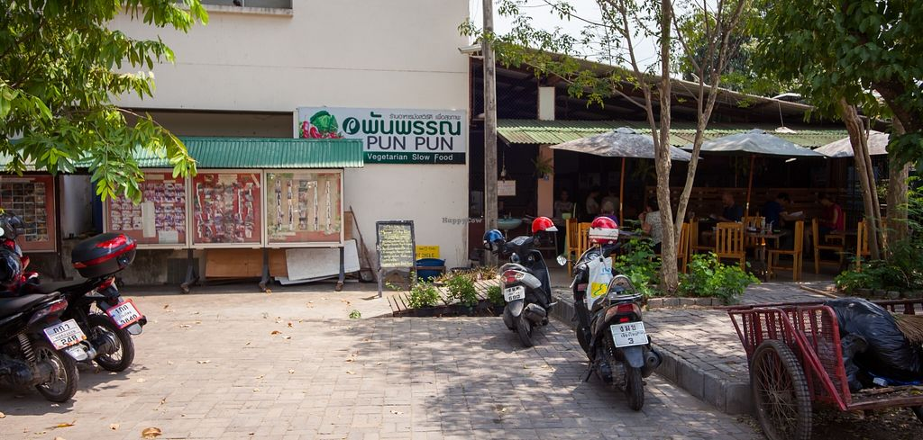 "Photo of Pun Pun Organic Vegetarian Restaurant - Wat Suan Dok  by <a href=""/members/profile/Mango%20Authority"">Mango Authority</a> <br/>View from the street <br/> May 13, 2016  - <a href='/contact/abuse/image/12006/148861'>Report</a>"