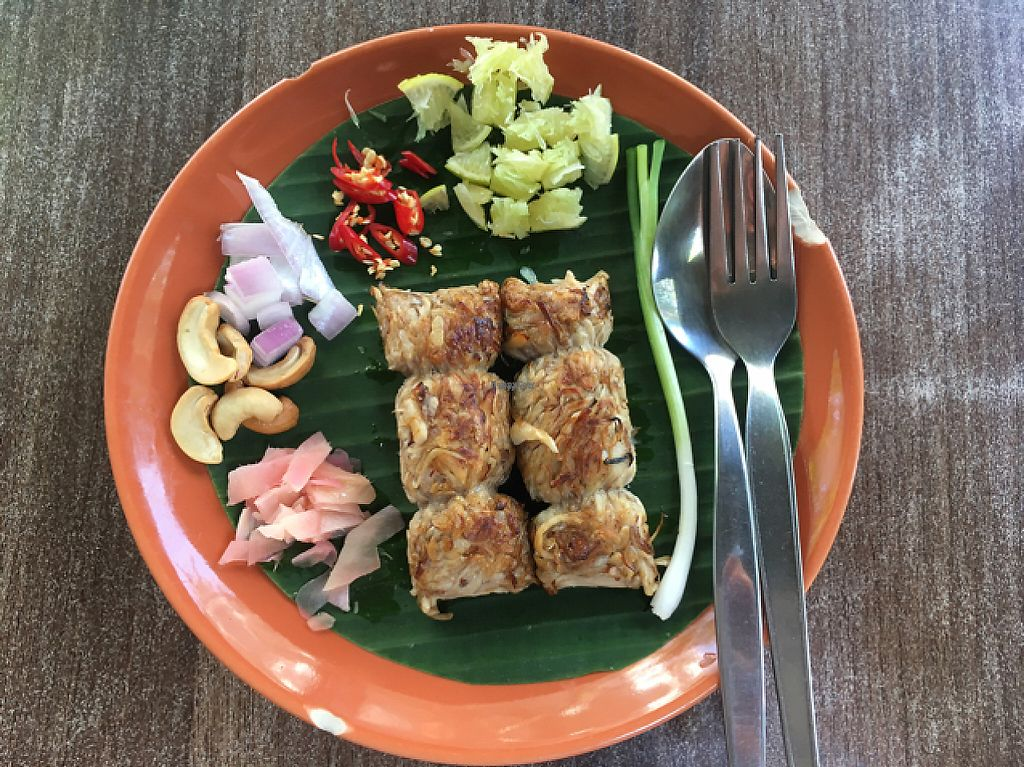 "Photo of Pun Pun Organic Vegetarian Restaurant - Wat Suan Dok  by <a href=""/members/profile/Peace.Nate"">Peace.Nate</a> <br/>fermented mushroom sausage  <br/> March 12, 2017  - <a href='/contact/abuse/image/12006/235387'>Report</a>"
